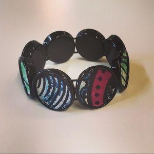 African print bracelet